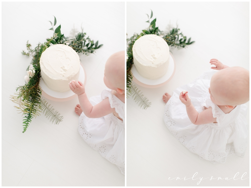 Boho Theme Little Girl First Birthday Cake Smash